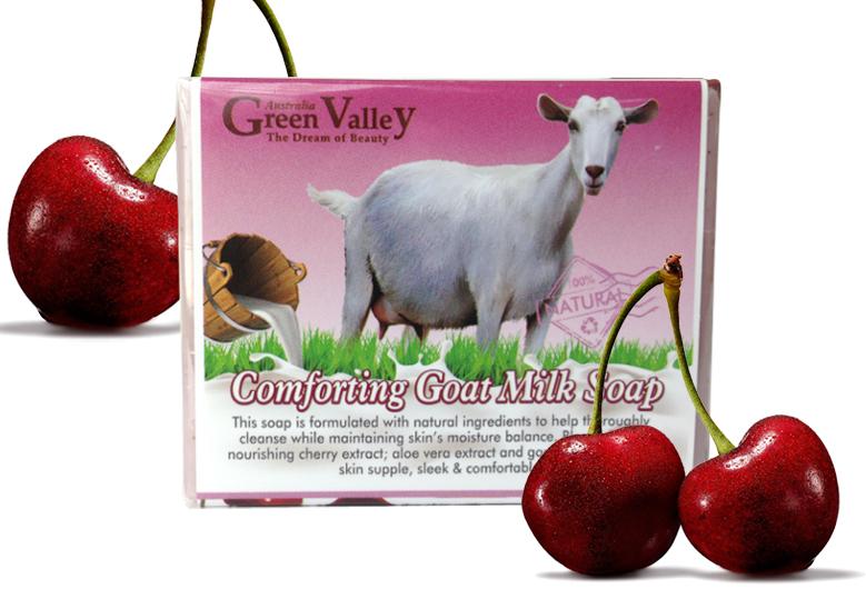 GreenValley Goat Milk Soap-Cherry