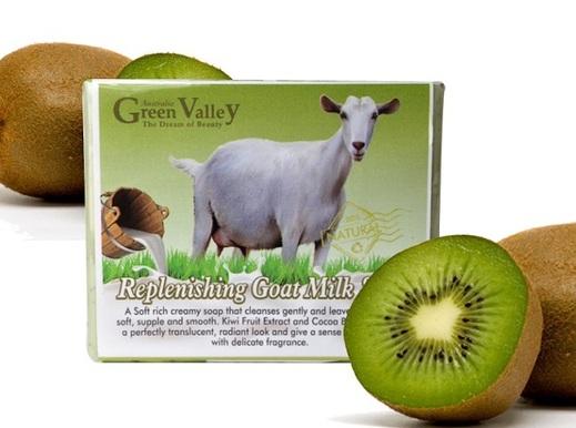 GreenValley Goat Milk Soap-Kiwi